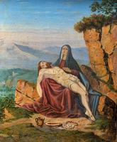 Pair of 19th Century Religious Old Master Oil Paintings - Set of 14 Available (24 of 32)