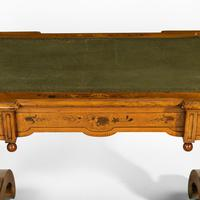Victorian Walnut Marquetry Writing Table attributed to Edward Holmes Baldock (5 of 17)