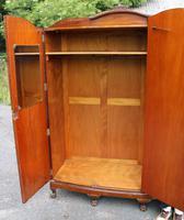 1940s Burr Walnut 3 Door Wardrobe Well Fitted (5 of 6)