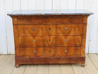 Antique Burr Walnut & Marble Top Chest Of Drawers (8 of 9)