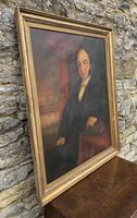 Large Antique Oil on Canvas Portrait of a Gentleman (17 of 19)