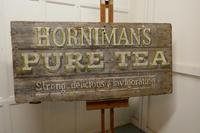 """Large Painted Wooden Advertising Sign, """"HORNIMAN'S PURE TEA"""" (2 of 8)"""