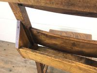 Set of Four Victorian Elm Chapel Chairs (6 of 7)