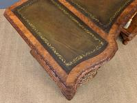 Burr Walnut Pedestal Desk by Maple and Co (10 of 18)