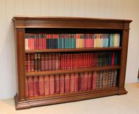 Substantial Oak Open Bookcase (4 of 9)