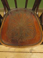 Four Antique Polish Thonet Style Bentwood Bistro Chairs with Pressed Seats (3 of 22)