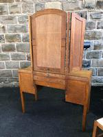 Antique Heals Oak Dressing Table & Stool (11 of 12)