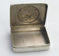 Superb Solid Silver Art Nouveau Maiden Table Snuff Box P Bryk c.1902 (6 of 8)