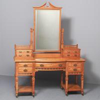 Antique 'John Taylor of Edinburgh' Satinwood Dressing Table (10 of 12)
