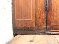 Antique Oak Bow Front Corner Cupboard (7 of 8)