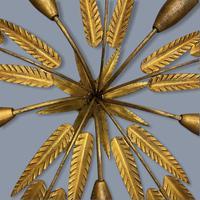 Spanish Ferro Art Gilt Palm Ceiling Light (11 of 11)