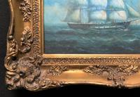 Original Seascape Oil Painting of 18th Century Tall-Masted Ship on the High Seas (3 of 12)
