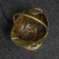 Late Victorian Brass Coal Helmet (3 of 14)