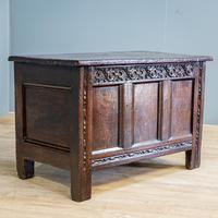 Carved 18th Century Oak Coffer