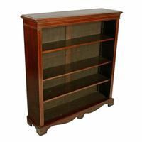 Inlaid Mahogany Open Bookshelves (4 of 7)