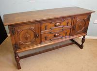 Antique Oak Sideboard Dresser Base (3 of 13)