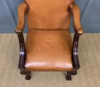 Leather Upholstered Gainsborough Armchair (8 of 12)