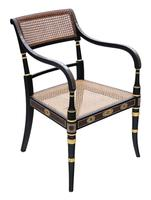 19th Century Regency Decorated Elbow Hall / Side Chair (3 of 9)