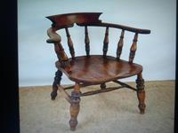 Captain's Chair or Smoker's Bow. Good and Original Victorian (9 of 9)