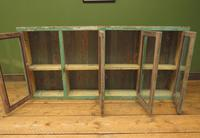 Antique Glazed Wooden Indian Wall Cabinet with Chippy Old Turquoise Paint (8 of 18)