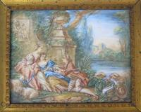 Beautiful Miniature Painting after Boucher by the Lake (4 of 6)