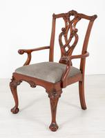 Set of 8 Mahogany Chippendale Style Dining Chairs (6 of 17)