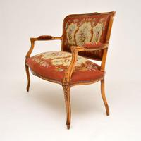 Antique French Needlepoint Salon Two Seater Sofa (2 of 12)