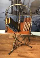 Victorian Brass & Oak Revolving Bookcase (5 of 9)