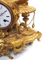 Wow! Incredible French Gilt Metal Mantel Clock Striking 8-Day Mantle Clock (6 of 10)