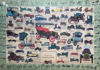 Intriguing Very Large 1960s Oak Framed Vintage Car Automotive Lithograph Poster (2 of 13)
