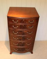 Tall Bow Front Chest of Drawers (4 of 7)