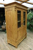 Fabulous Old Pine 'Knock Down' Glazed Display Cabinet (4 of 10)