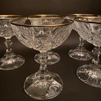 Six Art Deco Gold Rim Crystal Champagne Coupes (2 of 2)