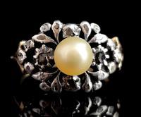 Antique Georgian Diamond & Pearl Ring, 18ct Gold (3 of 14)