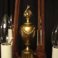 French 19th Century Gilded Bronze 8 Light Antique Chandelier (7 of 10)