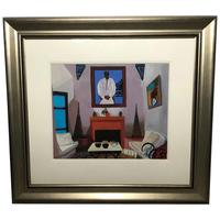 """Fine Art Painting Title """"The Portrait"""" Home Interior Scene Listed Paul Darby (12 of 12)"""