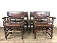 Set of Six Oak & Leather Dining Chairs (2 of 23)