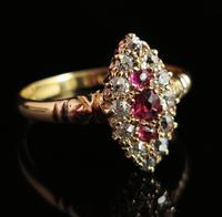 Victorian Ruby & Diamond Navette Ring (14 of 14)