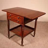 Pembroke Table In Mahogany & Inlay 19th Century - England (10 of 16)