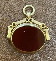 9ct Gold Swivel Fob - Birmingham 1917 (2 of 4)