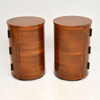 Pair of Art Deco Walnut Bedside Chests (3 of 13)