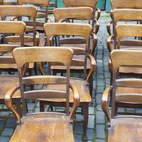 Rare Antique Set of 34 American Oak Chairs (3 of 15)