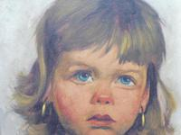 Two Oil on Canvas Portraits Little Girls Listed Dutch Artist Jeanne Brandsma (9 of 10)