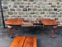 Antique Mahogany 9ft Wind Out Extending Dining Table (8 of 14)