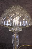 Quality Cut Glass Mushroom Table Lamp (2 of 6)