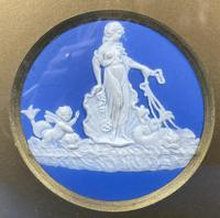 Victorian  Framed Wedgwood Panel of Goddess with her Cherub Child (3 of 4)
