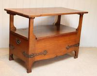 Arts & Crafts Solid Oak Monks Bench (7 of 12)