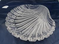 Old Bohemian Shell-shaped Glass Dish (2 of 4)