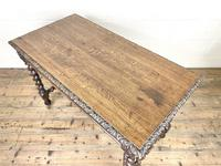 Antique 19th Century Carved Oak Table (10 of 11)