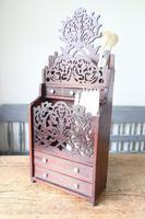 19th Century Scottish Vernacular 'folk Art' Thistle Fretwork Spoon & Candle Box (22 of 36)